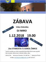 Zábava Sokol Čimice 1.12.2018